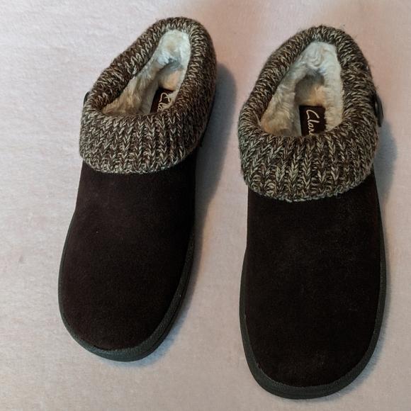 Clarks Womens Knit Scuff Slipper Mule